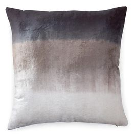 Brown and White Ombre 20x20 Throw Pillow, , large