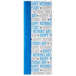 Blue and Happy Father's Day 2-Pack Tissue Paper, 6 Sheets, , large