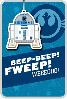 R2-D2™ Christmas Card With Ornament,