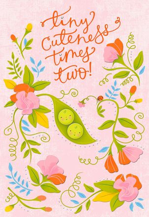 Peapod New Twins Baby Card