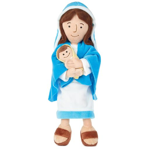 8cc0db16333 Mother Mary Holding Baby Jesus Stuffed Doll