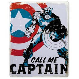 Captain America Metal Sign, , large
