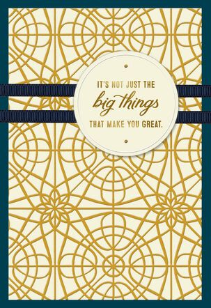 Gold Pattern Big Things Birthday Card for Dad