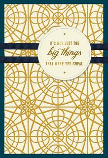 Gold Pattern Big Things Birthday Card for Dad,