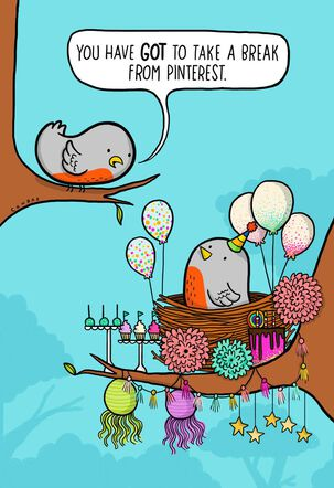 Feathered Nest Funny Birthday Card