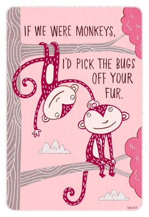 Monkey Humor Valentine's Day Card