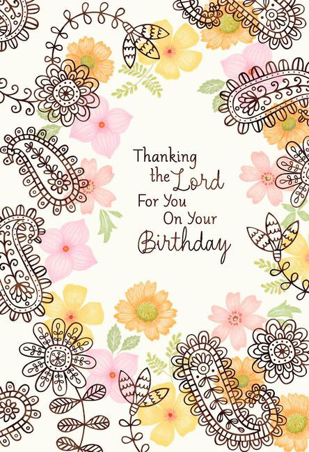 Thank The Lord For Mom Religious Birthday Card