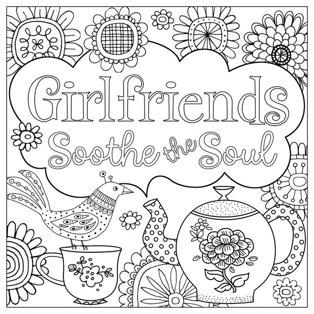 happy is the new perfect recipe coloring book for girls - Coloring Book For Girls