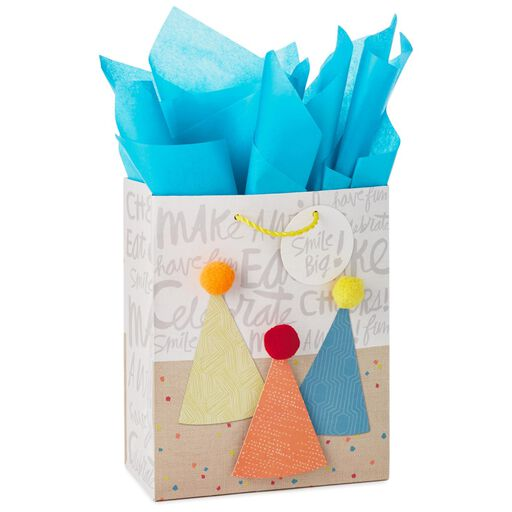 Party Hats Medium Gift Bag With Tag and Tissue 943149651b6b4