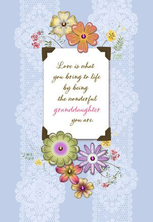 Wonderful Granddaughter Birthday Card