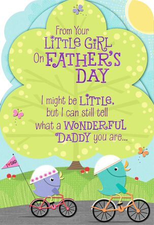Daddy Love from Your Little Girl Father's Day Card