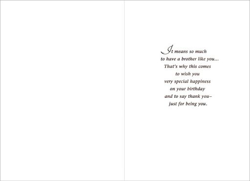 Special Brother Birthday Card,