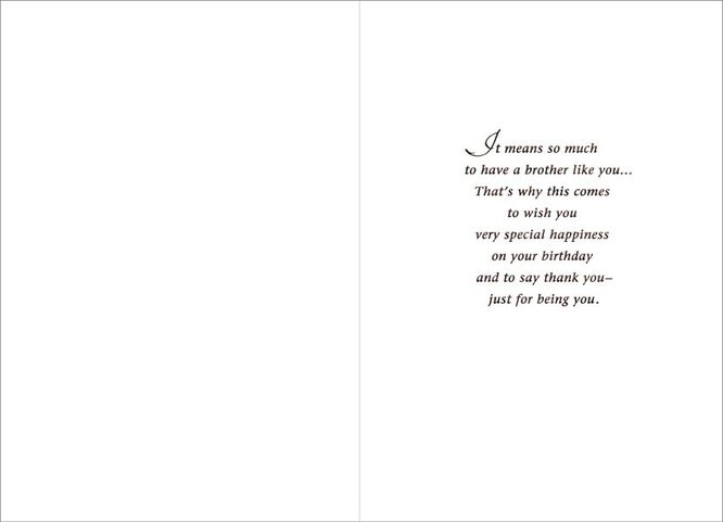 Special Brother Birthday Card Greeting Cards Hallmark – What to Say on Birthday Cards