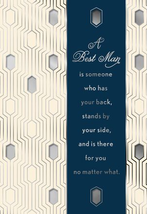By My Side Thank You Card for a Best Man