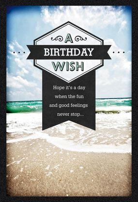 Ocean Waves Birthday Card For Him