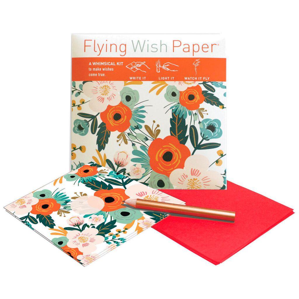 Orange Blossoms Flying Wish Paper Mini Kit