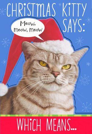Kitty Says Meow Christmas Card