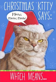 Kitty Says Meow Christmas Card,
