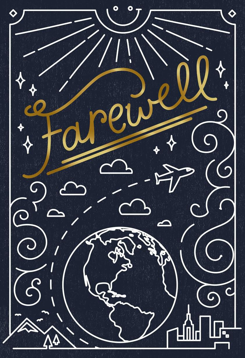 farewell funny goodbye card - greeting cards