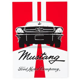 Metal Ford Mustang Sign, , large