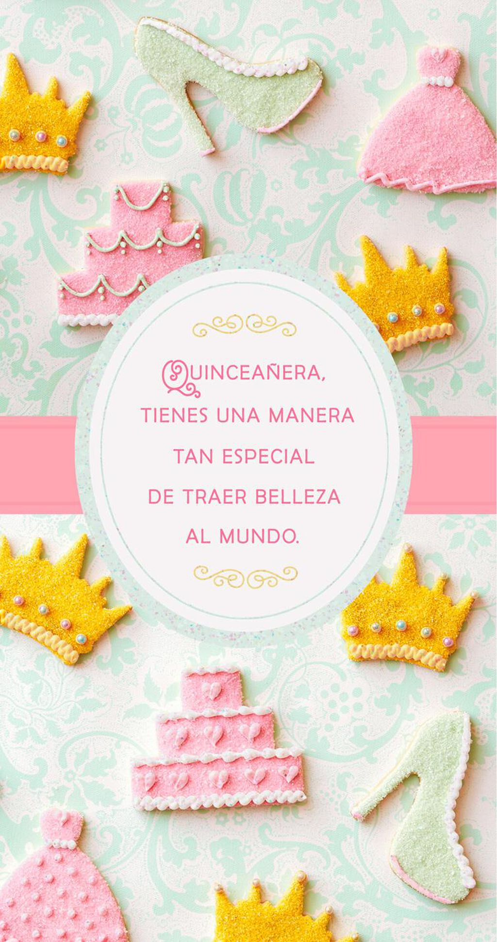 Gowns and Crowns Spanish-Language Money Holder Quinceañera Card ...