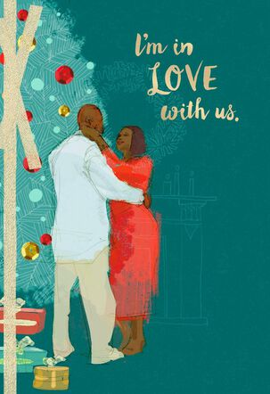 Loving Couple Christmas Card