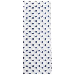 Midnight Blue Polka Dot Pattern Tissue Paper, 6 Sheets, , large