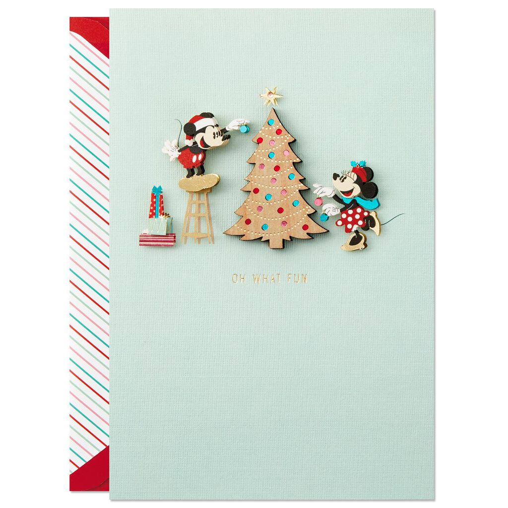Disney Mickey and Minnie Magical Together Christmas Card - Greeting ...