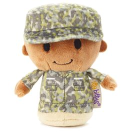 itty bittys® Green Camo African-American Boy Stuffed Animal, , large