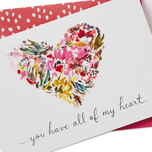 Heart Of Flowers Valentines Day Card