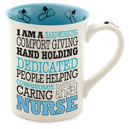Our Name is Mud Nurse Typography Coffee Mug, , large