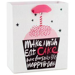 "Make a Wish Cupcake Small Gift Bag, 6.5"", , large"