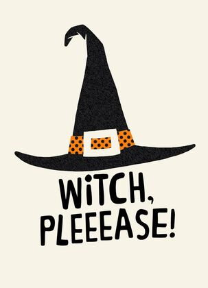 Wicked Witch Hat Halloween Card