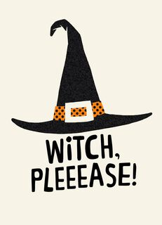 Wicked Witch Hat Halloween Card,