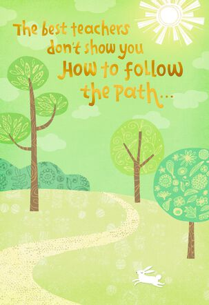 Create Your Own Path Teacher Appreciation Card