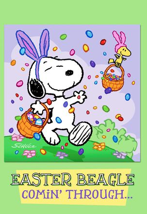 Peanuts® Snoopy and Woodstock 3-D Easter Card