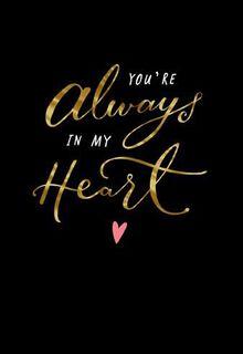 Always In My Heart Valentine's Day Card,