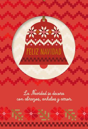 Peace and Joy Spanish-Language Christmas Card With Ornament