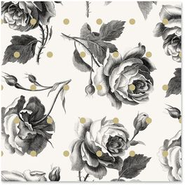 Archival Roses Wrapping Paper Roll, 15 sq. ft., , large
