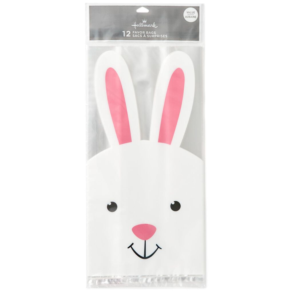 Easter bunny treat bags pack of 12 gift bags hallmark easter bunny treat bags pack of 12 negle Images