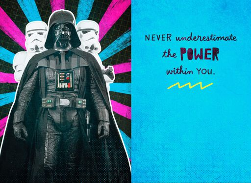 Darth Vader™ Powerful and Impressive Birthday Sound Card,