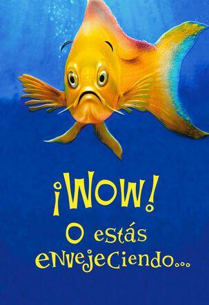 Funny Fish Spanish-Language Birthday Card