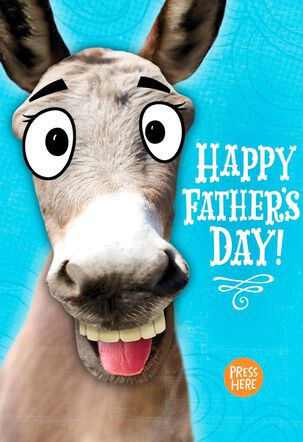 Donkey Musical Father's Day Card