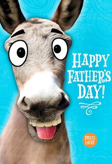 Donkey Musical Father's Day Card,