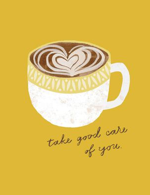 Cup of Coffee With Heart Blank Encouragement Card