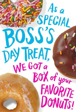 Box of Donuts Boss's Day Card