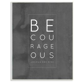 Be Courageous Wall Plaque, 8x10, , large