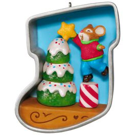Stocking Cookie Cutter Christmas Decorating the Tree Mouse Ornament, , large