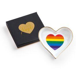 Love Is Love Rainbow Heart Trinket Tray, , large