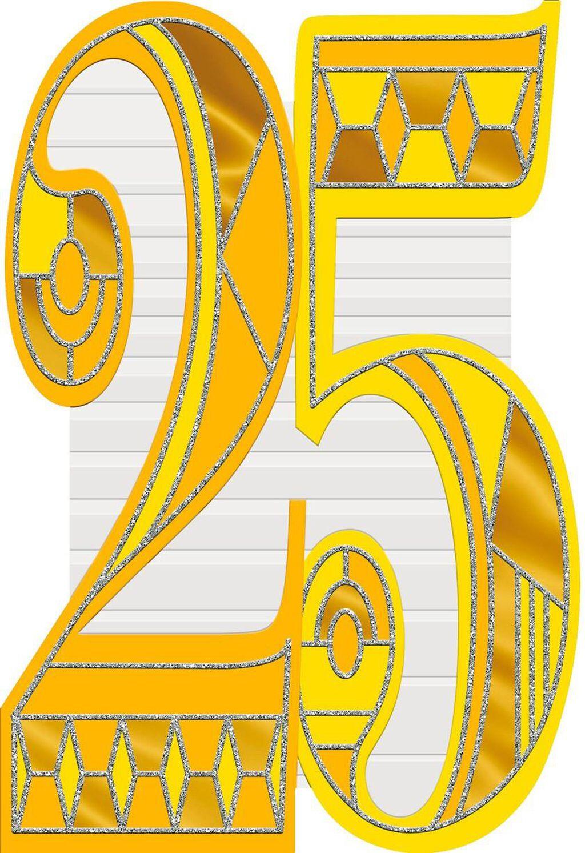 Art Deco 25th Birthday Card